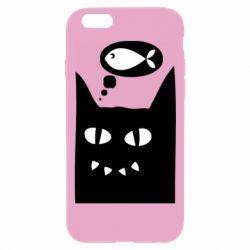 Чехол для iPhone 6 Plus/6S Plus Cat dreams of a fish