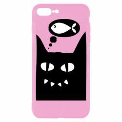 Чехол для iPhone 7 Plus Cat dreams of a fish