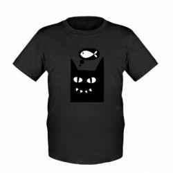 Детская футболка Cat dreams of a fish