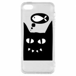 Чехол для iPhone5/5S/SE Cat dreams of a fish