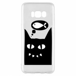 Чехол для Samsung S8 Cat dreams of a fish