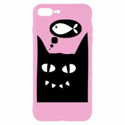 Чехол для iPhone 8 Plus Cat dreams of a fish