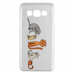 Чехол для Samsung A3 2015 Cat family