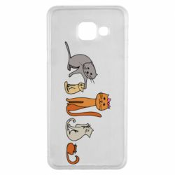 Чехол для Samsung A3 2016 Cat family