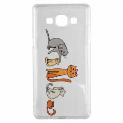 Чехол для Samsung A5 2015 Cat family