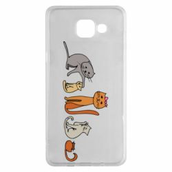 Чехол для Samsung A5 2016 Cat family