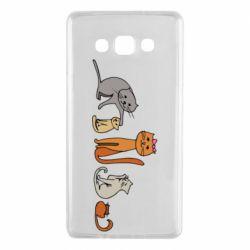 Чехол для Samsung A7 2015 Cat family
