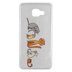 Чехол для Samsung A7 2016 Cat family