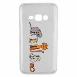 Чехол для Samsung J1 2016 Cat family
