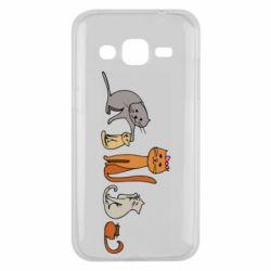 Чехол для Samsung J2 2015 Cat family