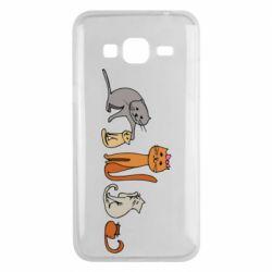 Чехол для Samsung J3 2016 Cat family