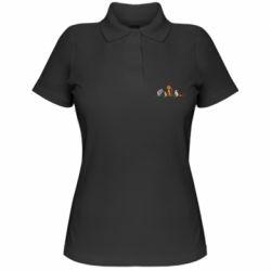 Женская футболка поло Cat family