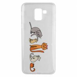 Чехол для Samsung J6 Cat family