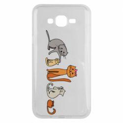 Чехол для Samsung J7 2015 Cat family