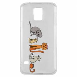 Чехол для Samsung S5 Cat family
