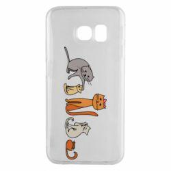 Чехол для Samsung S6 EDGE Cat family