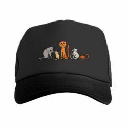 Кепка-тракер Cat family