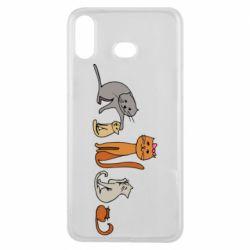 Чехол для Samsung A6s Cat family