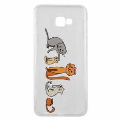 Чехол для Samsung J4 Plus 2018 Cat family