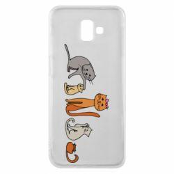Чехол для Samsung J6 Plus 2018 Cat family