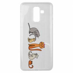 Чехол для Samsung J8 2018 Cat family