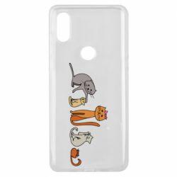 Чехол для Xiaomi Mi Mix 3 Cat family