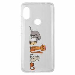 Чехол для Xiaomi Redmi Note 6 Pro Cat family