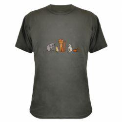 Камуфляжная футболка Cat family