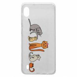 Чехол для Samsung A10 Cat family