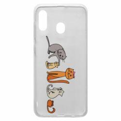 Чехол для Samsung A20 Cat family