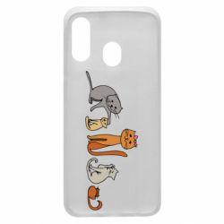 Чехол для Samsung A40 Cat family