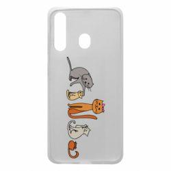 Чехол для Samsung A60 Cat family