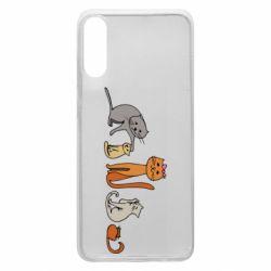 Чехол для Samsung A70 Cat family