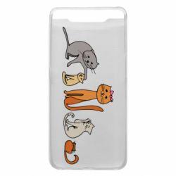 Чехол для Samsung A80 Cat family