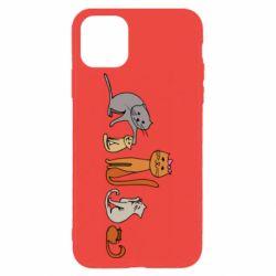 Чехол для iPhone 11 Pro Max Cat family