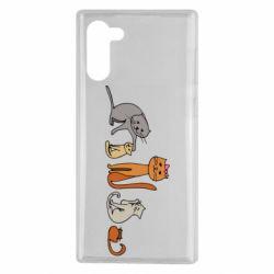 Чехол для Samsung Note 10 Cat family