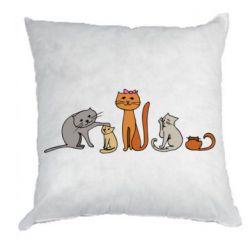 Подушка Cat family