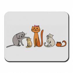 Коврик для мыши Cat family