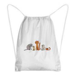 Рюкзак-мешок Cat family