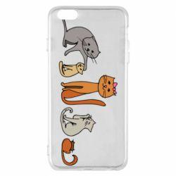 Чехол для iPhone 6 Plus/6S Plus Cat family