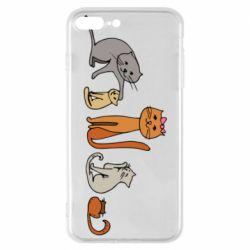 Чехол для iPhone 7 Plus Cat family