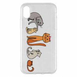 Чехол для iPhone X/Xs Cat family