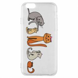 Чехол для iPhone 6/6S Cat family