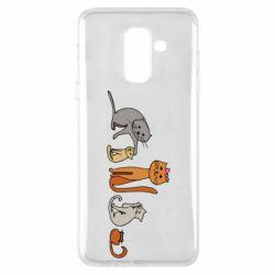 Чехол для Samsung A6+ 2018 Cat family