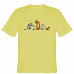Мужская футболка Cat family