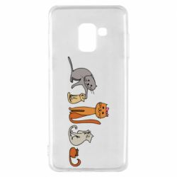 Чехол для Samsung A8 2018 Cat family