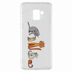 Чехол для Samsung A8+ 2018 Cat family