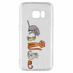 Чехол для Samsung S7 Cat family
