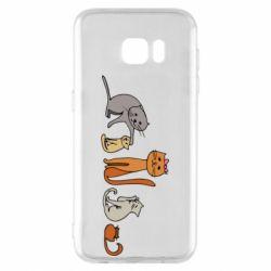 Чехол для Samsung S7 EDGE Cat family