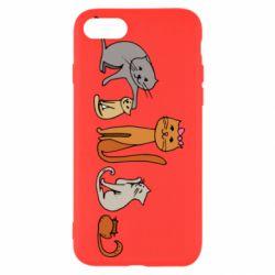 Чехол для iPhone 8 Cat family